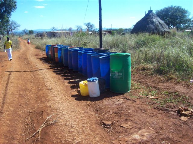 Help us Fill These Barrels with Safe Fresh Water!